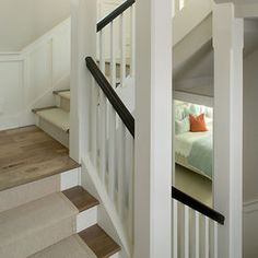stair runner with a half landing