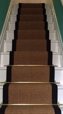 Coir Panama Natural Stair Runner with Black Borde