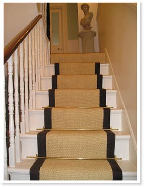 Stair runner coin bleached