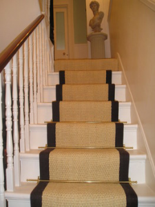 Coir Bleached Brown Border Cleaner