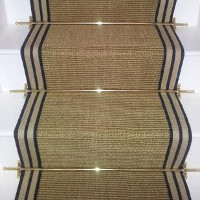 Stair Carpet Sisal Chocolate