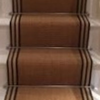 Stair Carpet Jute Black Border